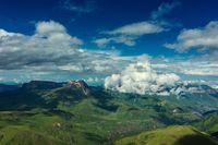 Mountaisn under clouds in Caucasus
