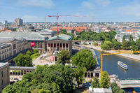 View from Berliner Dom at Museum island with Alte Nationalgalerie