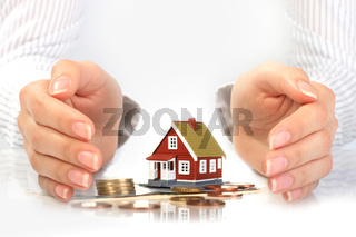 Real estate concept. Isolated over white background.