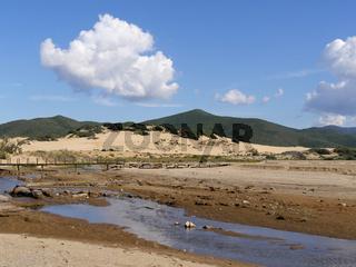 die Dünen von  Piscinas an der Westküste von Sardinien