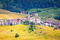 Village of Piatta in Bormio Alps, Province of Sondrio
