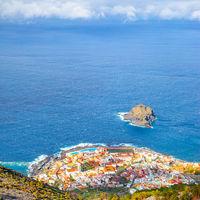 Garachico town by the sea in Tenerife island