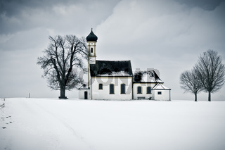 winter scenery church
