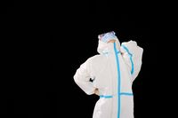Female doctors in medical protective clothing