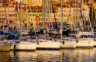 Vieux port ( old port) in Cannes, France