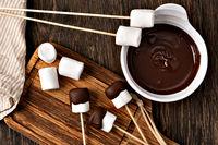 marshmallow on table