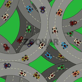 Kart racing pattern