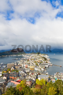 Alesund on the Norwegian coast