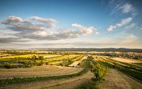 Panoramic view of the village of Schützen in burgenland