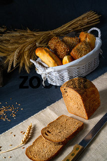 delicious rye bread on the table