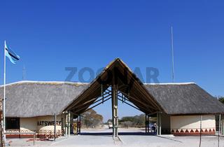 Matswere Entrance Gate, Central Kalahari Game Reserve CKGR. Botswana, Botsuana