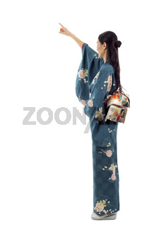 Japanese Woman Pointing