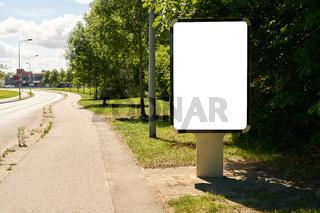 City Light Poster (CLP) Mock-Up Template an Gehweg