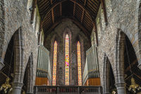 Interior, pipe organs and stained glass in St. Marys Cathedral, Killarney