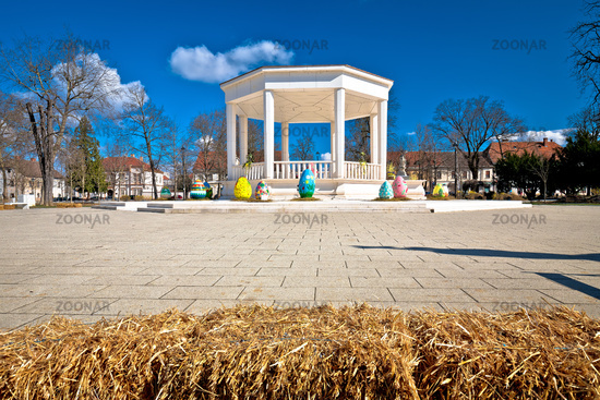 Town of Bjelovar central square pavillion view