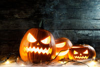 Halloween pumpkins head jack o lantern