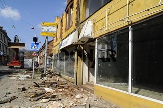 Abriss altes Möbelhaus in St Wendel