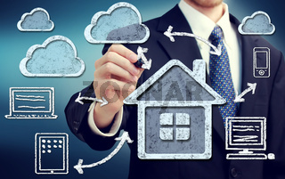 Cloud Computing at Home Concept
