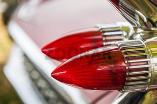Brake lights of american automobile