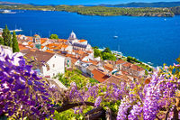 Sibenik waterfront and st. James cathedral view from above