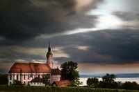 Die Basilika Birnau im dramatischen Licht