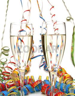 Luftschlange Konfetti Champagner / streamer confetti champagne