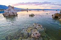 Tufa Formations at Mono Lake outside of Yosemite National Park at Sunset