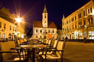 Baroque town of Varazdin city center