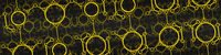 wide modern yellow rings background banner