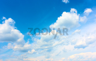 Sky with white heap clouds - Cloudscape