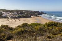 Odeceixe am Atlantischer Ozean, Algarve, Portugal, Odeceixe with Atlantic, Algarve, Portugal