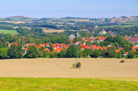 Neustadt in Sachsen, Stadtansicht - View over the the town Neustadt in Saxony, Germany, Europe