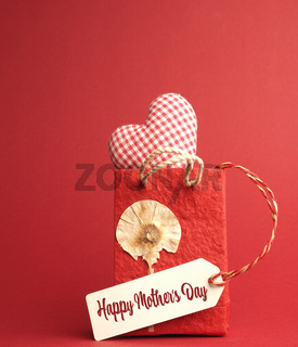 Happy Mothers Day, red decoration