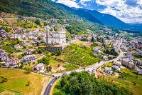 Idyllic mountain town of Tresivio in Province of Sondrio, Lombardy