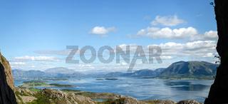 Fjordlandschaft Panorama