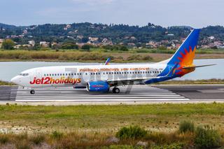 Jet2 Boeing 737-800 Flugzeug Flughafen Korfu in Griechenland