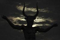 Greek Zeus Body Part Sculpture Isolated