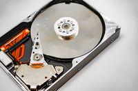 Image of broken hard disk drive