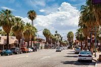 PALM SPRINGS, CALIFORNIA, USA - JULY 29 : View of Palm Springs on July 29, 2011. Unidentified people.