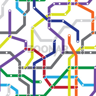 Abstract seamless pattern - metro scheme