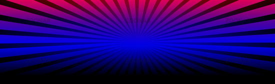 Panoramic background abstract rays of the sun around - illustration