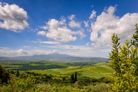 Countryside of Val d'Orcia near Pienza