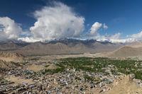 Leh Town of Ladakh - view from Namgyal Tsemo