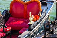 Red velvet gondola seat