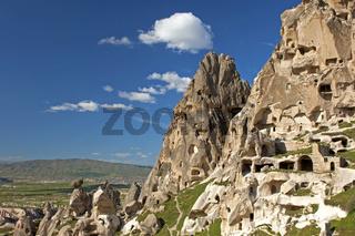 Tuffsteinfelsen, Kappadokien, Uchisar, Türkei