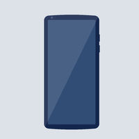 simple smartphone with blank screen