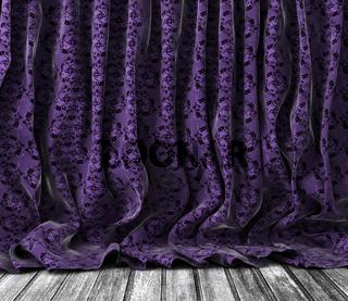 Vintage floral curtains background