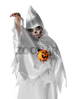 Funny halloween kid in costume