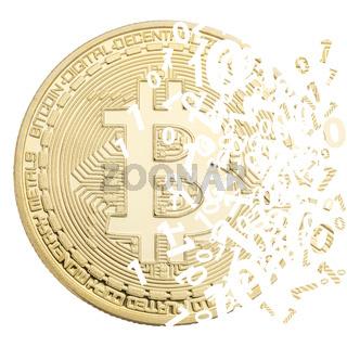 Bitcoin Krypto Währung online bezahlen digital Geld Kryptowährung Wirtschaft Finanzen Freisteller freigestellt quadratisch