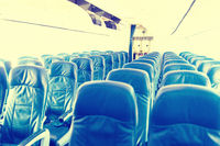 Empty plane interior with no people